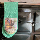 Buy Alex Clark Oven Gloves Double Oven Glove Cat House at Louis Potts
