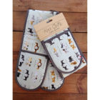 Buy Alex Clark Oven Gloves Double Oven Glove Delightful Dogs at Louis Potts