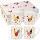 Buy Alex Clark Rooster Collection Mug Small Set of 4 at Louis Potts