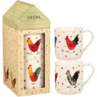 Buy Alex Clark Rooster Collection Mug Stacking Set of 2 at Louis Potts