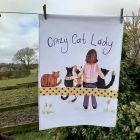 Buy Alex Clark Tea Towels Tea Towel Crazy Cat Lady at Louis Potts