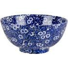 Buy Burleigh Blue Calico Chinese Footed Bowl Small at Louis Potts