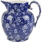 Buy Burleigh Blue Calico Etruscan Jug Large at Louis Potts