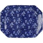 Buy Burleigh Blue Calico Rectangular Platter 34cm at Louis Potts