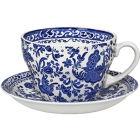 Buy Burleigh Blue Regal Peacock Breakfast Cup & Saucer at Louis Potts