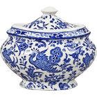 Buy Burleigh Blue Regal Peacock Covered Sugar Bowl at Louis Potts