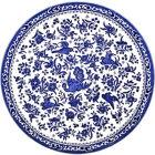 Buy Burleigh Blue Regal Peacock Dinner Plate 25cm at Louis Potts