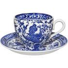 Buy Burleigh Blue Regal Peacock Teacup & Saucer at Louis Potts