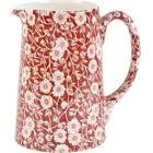 Buy Burleigh Red Calico Tankard Jug Medium at Louis Potts