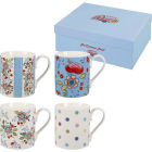 Caravan Trail Caravan Trail Mugs Mug Hippie Floral Set of 4