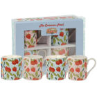 Buy Caravan Trail Caravan Trail Mugs Mug Strawberry Harvest Set of 4 at Louis Potts