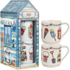 Buy Caravan Trail Caravan Trail Mugs Stacking Mug Set of 2 Beach Huts Festival at Louis Potts
