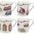 Buy Caravan Trail Caravan Trail Mugs Mug Festival Set of 4 at Louis Potts