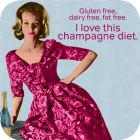Buy Cath Tate Photocaptions Coasters Champagne Diet Coaster at Louis Potts