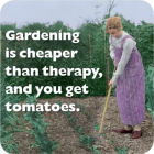 Buy Cath Tate Photocaptions Coasters Gardening Is Cheaper Than Therapy Coaster at Louis Potts
