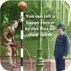 Buy Cath Tate Photocaptions Coasters Happy Cyclist Coaster at Louis Potts