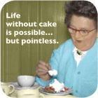 Buy Cath Tate Photocaptions Coasters Life Without Cake Coaster at Louis Potts