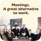 Buy Cath Tate Photocaptions Coasters Meetings Coaster at Louis Potts