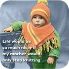 Buy Cath Tate Photocaptions Coasters Stop Knitting Coaster at Louis Potts