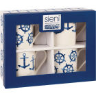 Buy Churchill Aura Mug Sieni Nautical Set of 4 at Louis Potts