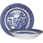 Buy Churchill Blue Willow Coupe Soup Bowl 20cm at Louis Potts