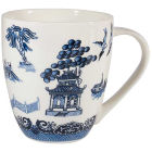 Buy Churchill Blue Willow Large Mug Willow White at Louis Potts