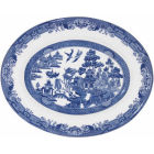 Buy Churchill Blue Willow Oval Platter 31cm at Louis Potts