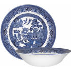 Buy Churchill Blue Willow Salad Bowl 24cm at Louis Potts