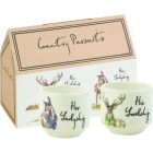 Buy Churchill Country Pursuits Eggcup Stacking Set of 2 His Lordship & Her Ladyship at Louis Potts