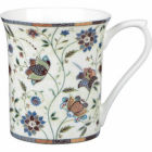 Buy Churchill Queens Mugs Mug Small Indian Silk Blue at Louis Potts
