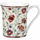 Buy Churchill Queens Mugs Mug Small Indian Silk Red at Louis Potts