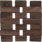 Buy Creative Tops Naturals Dark Slatted Wood Coaster Set of 4 at Louis Potts
