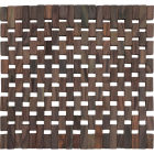 Buy Creative Tops Naturals Dark Slatted Wood Square Placemat Set of 2 at Louis Potts
