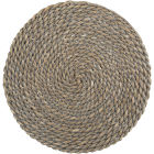 Buy Creative Tops Naturals Water Hyacinth Grey Round Mat 38cm at Louis Potts