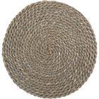 Buy Creative Tops Naturals Woven Grey Wash Round Mat 38cm at Louis Potts