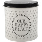 Buy Creative Tops Stir It Up Storage Tin Round Happy Place at Louis Potts