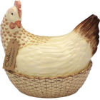 Buy Fairmont and Main Ducks & Hens Catherine the Hen Egg Basket  at Louis Potts