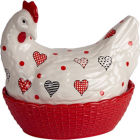 Buy Fairmont and Main Ducks & Hens Hannah the Hen Egg Basket  at Louis Potts