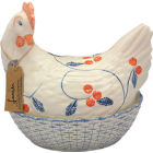 Buy Fairmont and Main Ducks & Hens Louise the Hen Egg Basket  at Louis Potts