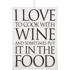 Buy Fairmont and Main Quips & Quotes Tea Towel I Love To Cook With Wine at Louis Potts