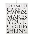 Buy Fairmont and Main Quips & Quotes Tea Towel Too Much Cake & Chocolate at Louis Potts