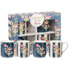 Buy Julie Dodsworth Julie Dodsworth Small Mug Set of 4 Flower Girl at Louis Potts