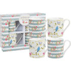Buy Julie Dodsworth Julie Dodsworth Small Mug Set of 4 Time To Nest at Louis Potts