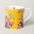 Buy Katie Alice Bohemian Spirit Tankard Mug Mustard Yellow Bee at Louis Potts