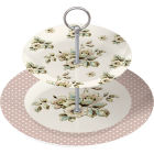 Buy Katie Alice Cottage Flower 2-Tier Cake Stand at Louis Potts