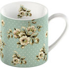 Buy Katie Alice Cottage Flower Can Mug Green Floral at Louis Potts