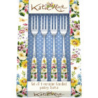 Buy Katie Alice English Garden Pastry Fork Set of 4 at Louis Potts