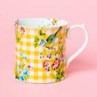 Buy Katie Alice English Garden Tankard Mug Gingham Yellow at Louis Potts