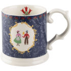 Buy Katie Alice Festival Folk Tankard Mug Blue at Louis Potts