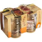 Buy Kilner Home Preserving Jars Kilner Handled Jar 0.4L Set of 4 at Louis Potts